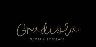 Free Gradiola Script Font