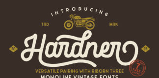 Free Hardner Retro Script Font
