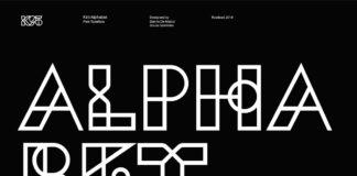 Free K95 Alphabet Geometric Font