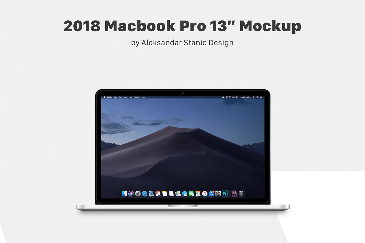 Free MacBook Pro 13 Mockup