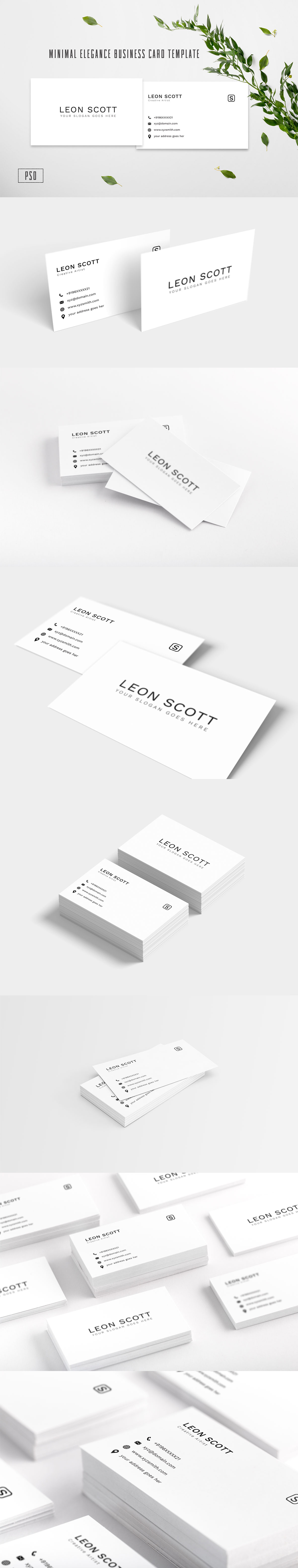 Free Minimal Elegance Business Card Template