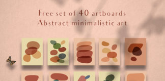 Free Abstract Minimalist Art Set