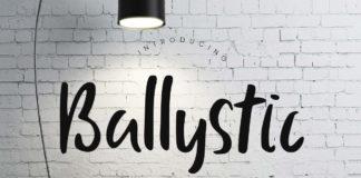 Free Ballystic Handwriting Font