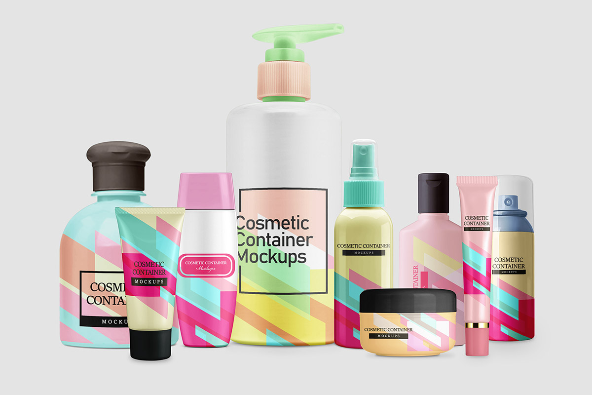 Free Cosmetic Container Mockup Pack