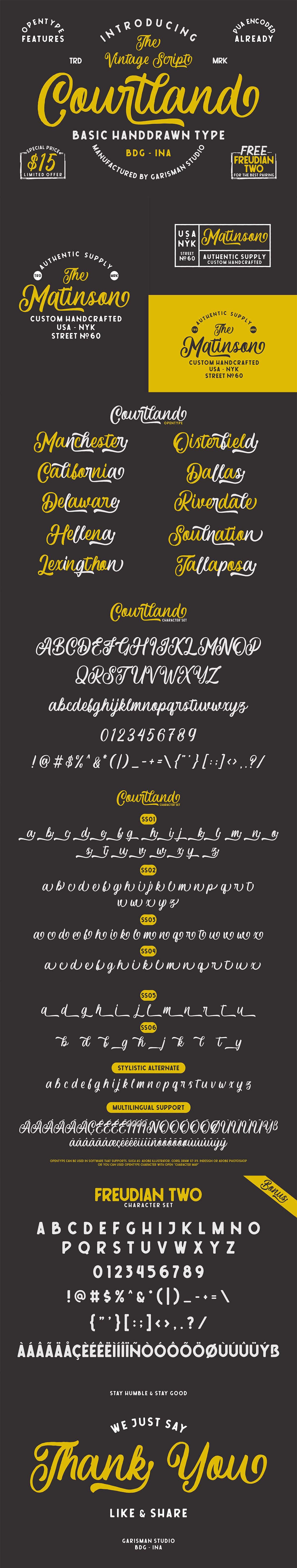 Free Courtland Vintage Script Font