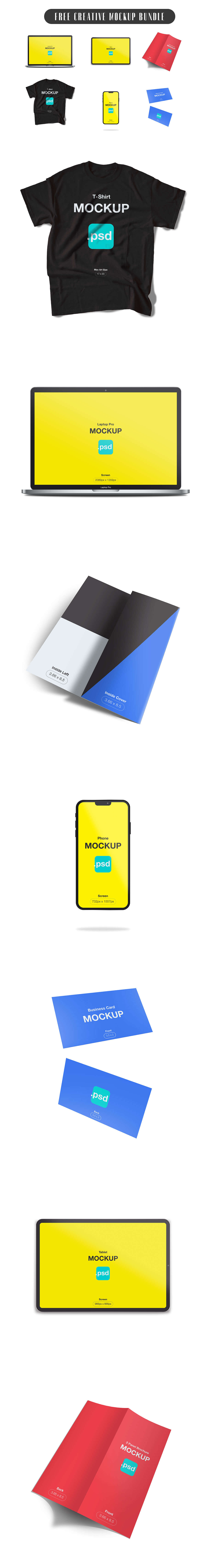 Free Creative Mockup Bundle