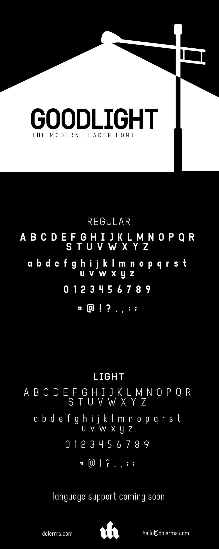 Free Goodlight Sans Serif Font Family