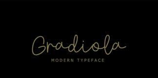 Free Gradiola Modern Script Font