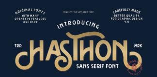 Free Hasthon Sans Serif Font