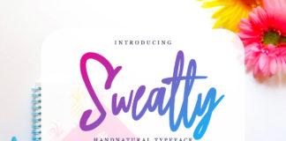 Free Sweatty Handnatural Font