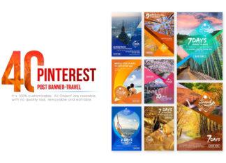 Free 40 Pinterest Travel Banners