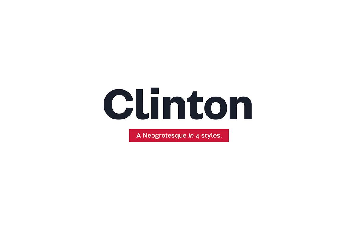 Free Clinton Sans Serif Font Family