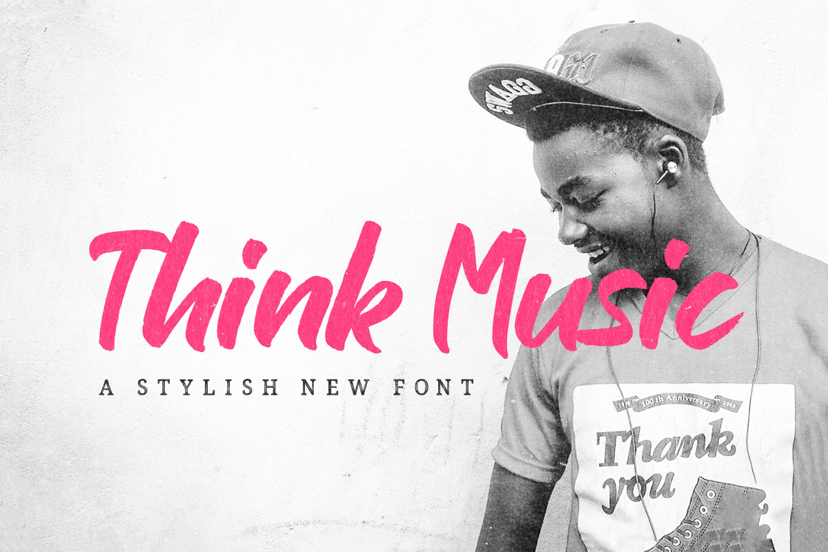Free Think Music Brush Font