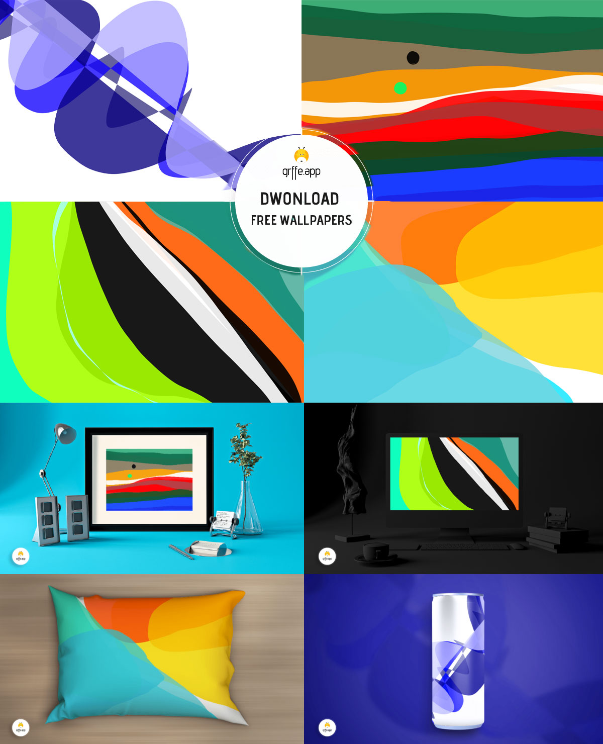 Free Abstract Background Wallpaper Vectors