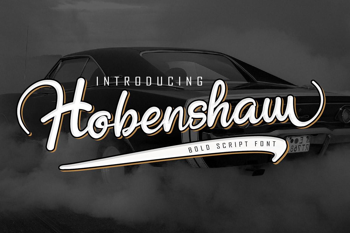 Free Hobenshaw Bold Script Font
