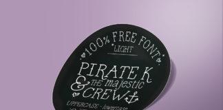 Free Pirate K Handmade Font