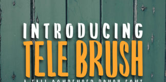 Free Tele Brush Brush Font