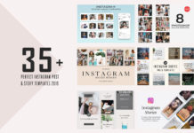 35+ Perfect Instagram Post & Story Templates 2019
