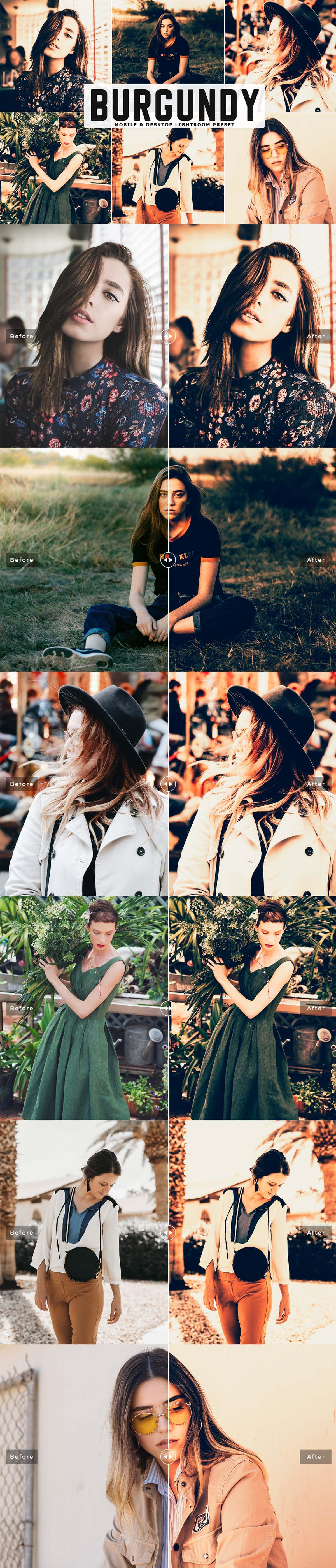 Free Burgundy Colors Lightroom Preset