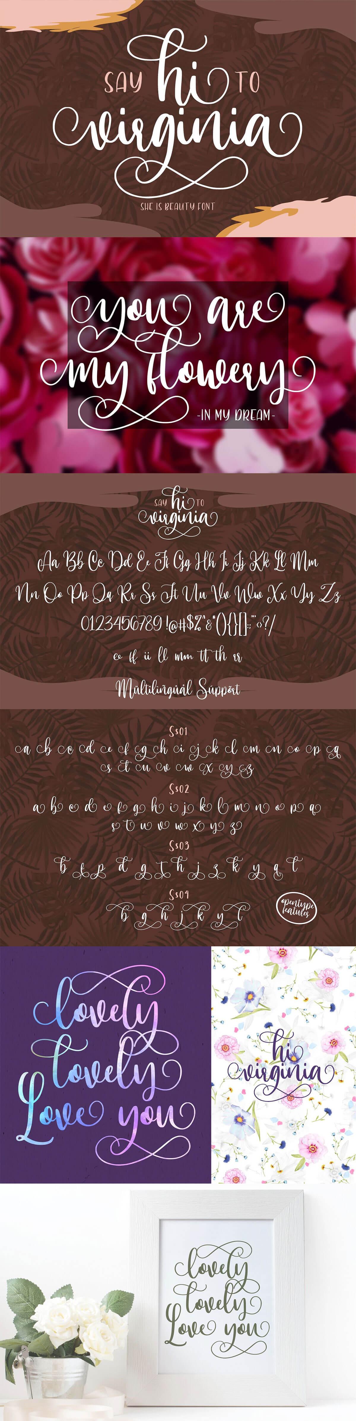 Free Hi Virginia Script Font