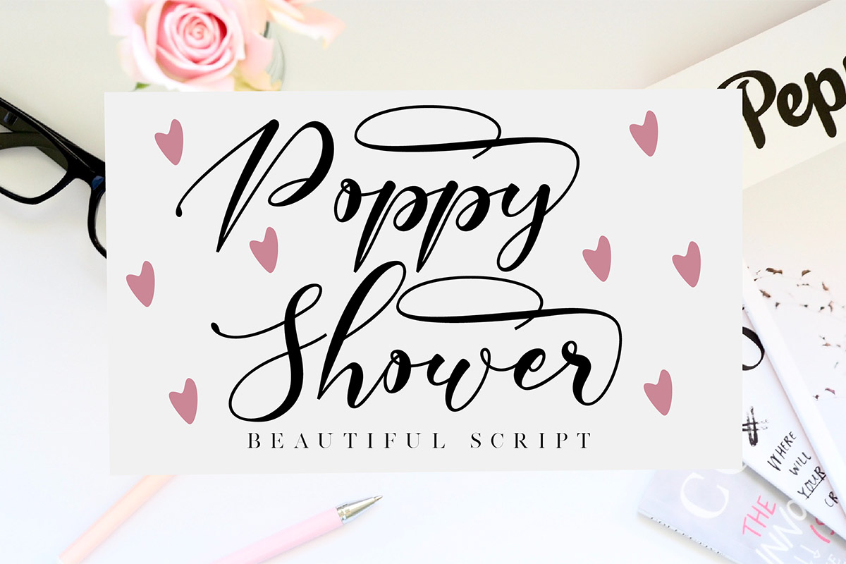 Free Poppy Shower Script Font