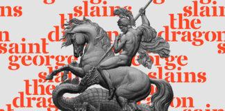 Free Saint George Stencil Font