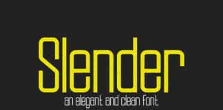 Free Slenderrar Sans Serif Font Family