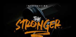 Free Stronger Urban Brush Font