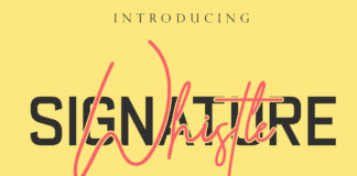 Free Whistle Signature Font