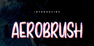 Free Aerobrush Handbrush Font