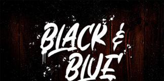 Free Black And Blue Brush Font