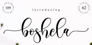 Free Boshela Script Font