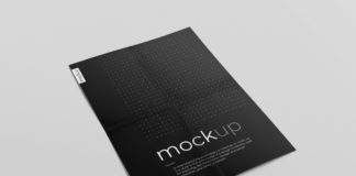 Free Creased Paper Mockup