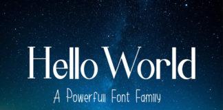 Free Hello World Display Font Family