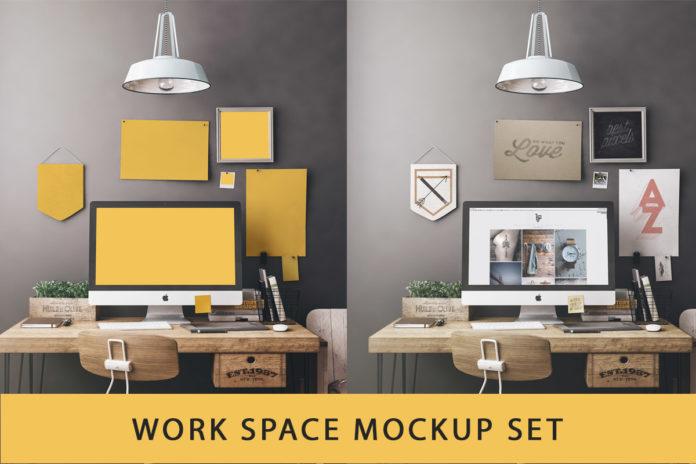 Free Workspace Mockup Set
