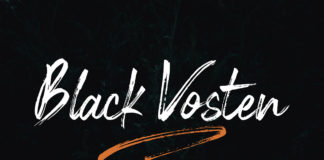 Free Black Vosten Brush Font