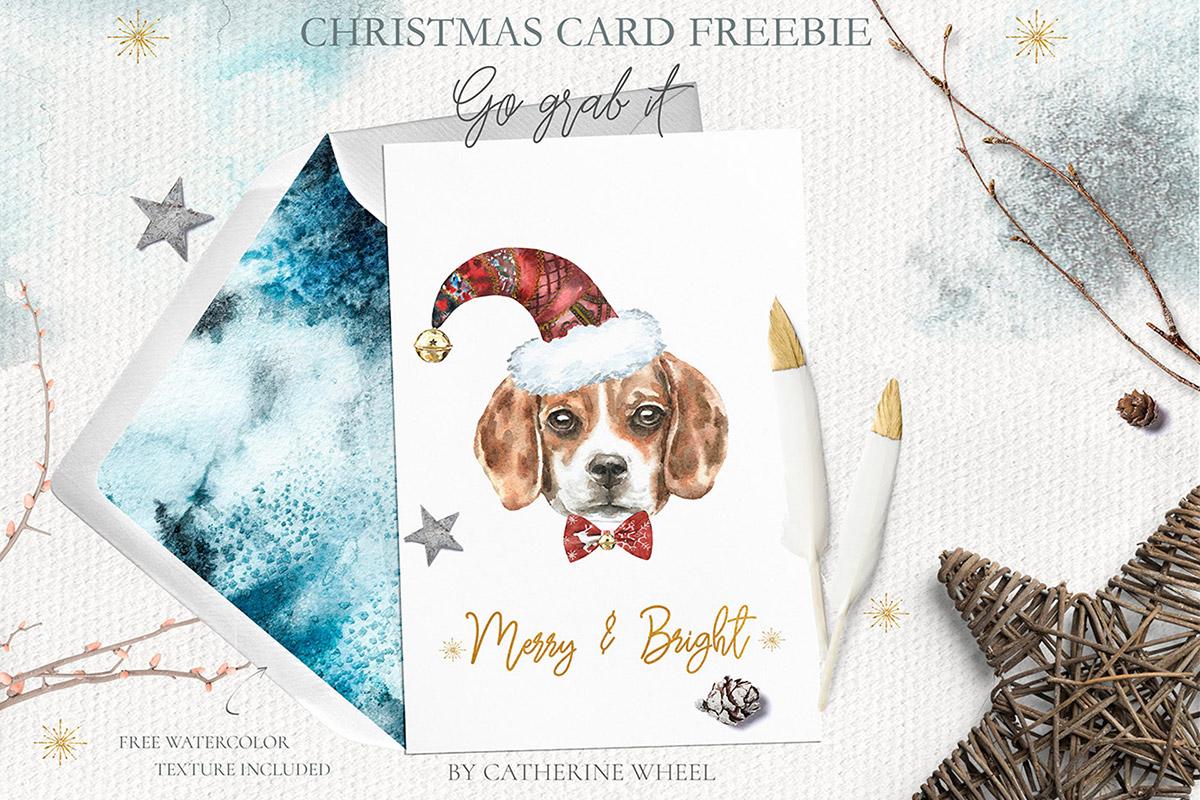 Free Christmas Dog Card