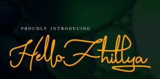 Free Hello Fhillya Script Font