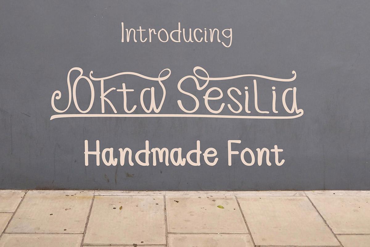 Free Okta Sesilia Handmade Font