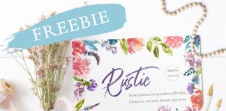 Free Rustic Watercolor Floral Set