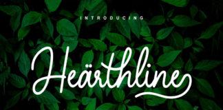 Free Hearthline Monoscript Font