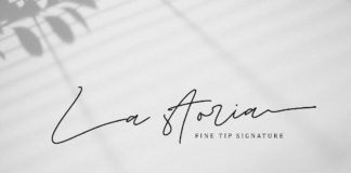 Free La Storia Fine Tip Signature Font