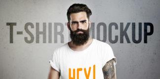 Free Men T-Shirt Mockup