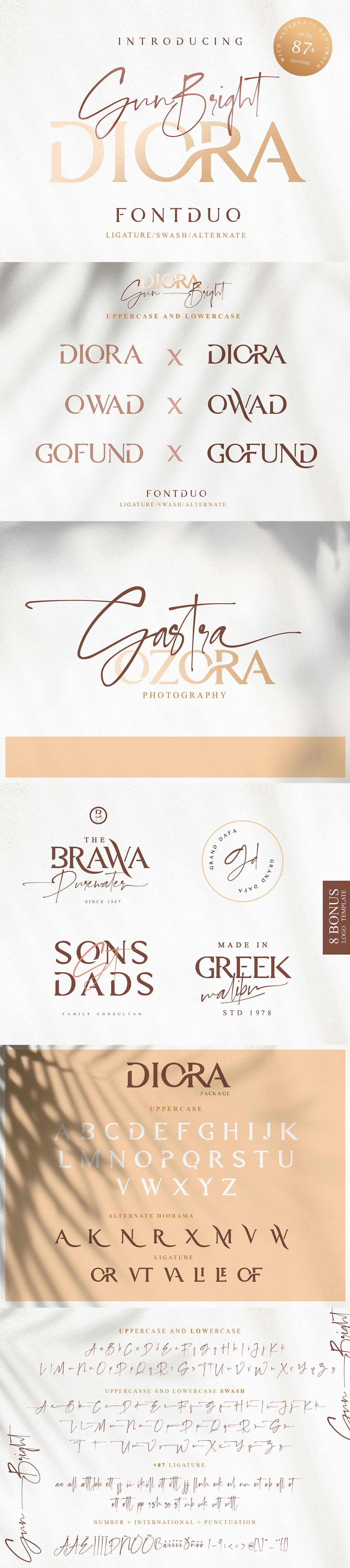 Free Diora Sunbright Font Duo