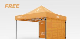 Free Display Tent Mockup