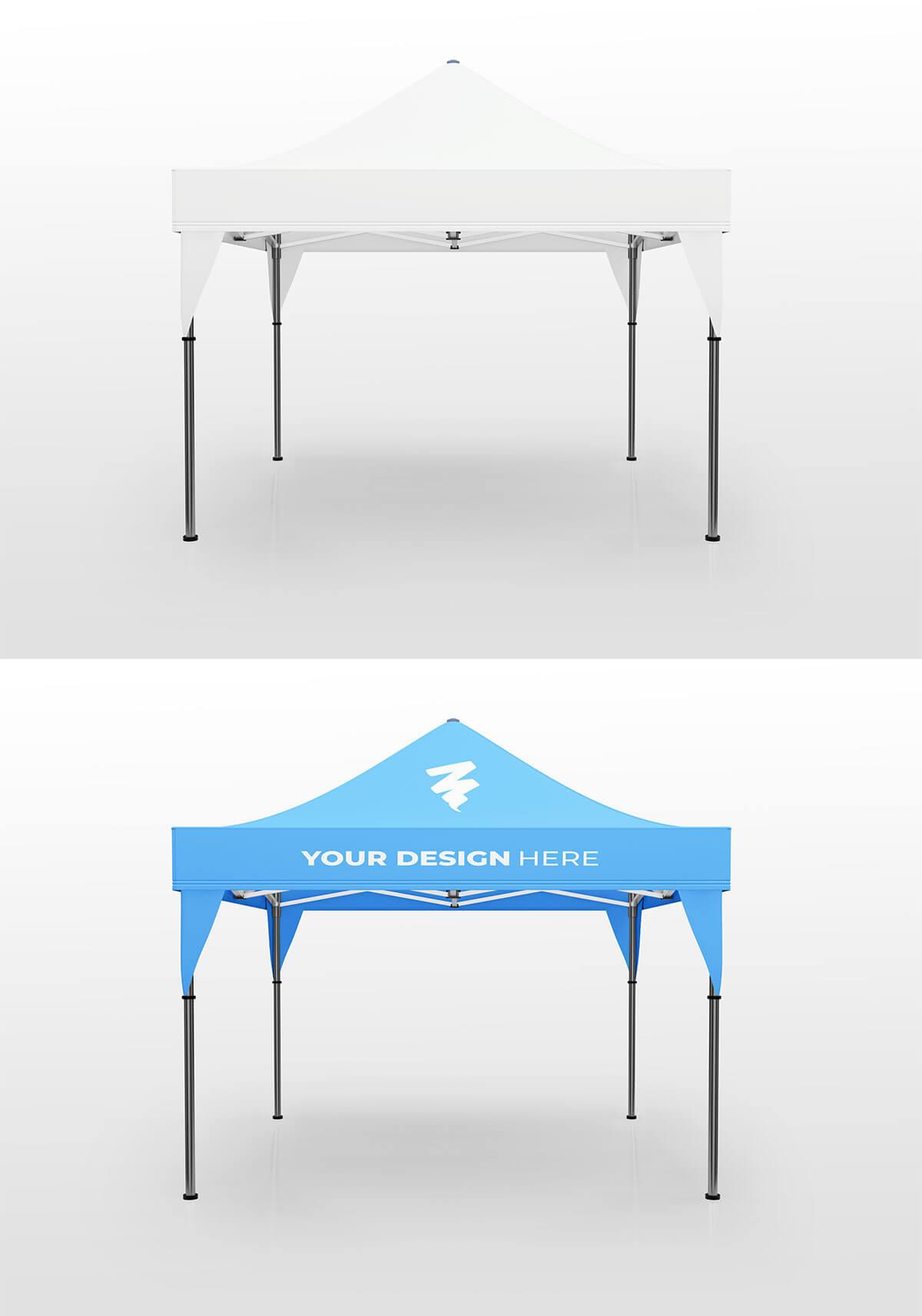 Free Display Tent Mockup V2