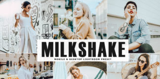 Free Milkshake Lightroom Preset