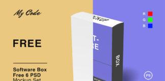 Free Software Box Mockup Set