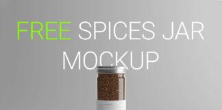 Free Spices Jar Mockup
