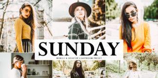 Free Sunday Lightroom Preset